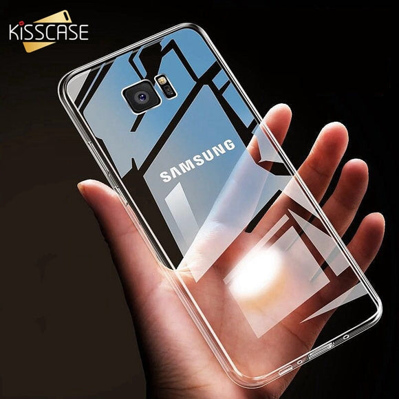 KISSCASE Case For Samsung Galaxy S10 plus S10e A3 A5 A7 2016 2017 Clear Soft TPU Phone Case For Samsung S8 S9 Note 8 S6 S7 Edge - 88digital