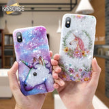 KISSCASE Case For iPhone X XS Max XR 6 6S 7 Unicorn Dream Texture Phone Case For iPhone 6 6S 7 8 Plus Back Cover Coque Capinhas - 88digital