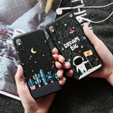 KISSCASE Soft Stars Moon Case for iPhone 7 8 plus X XR XS MAX Cute Dog Cat Embossed Case for iPhone X XS MAX XR 6 6S Plus Fundas - 88digital