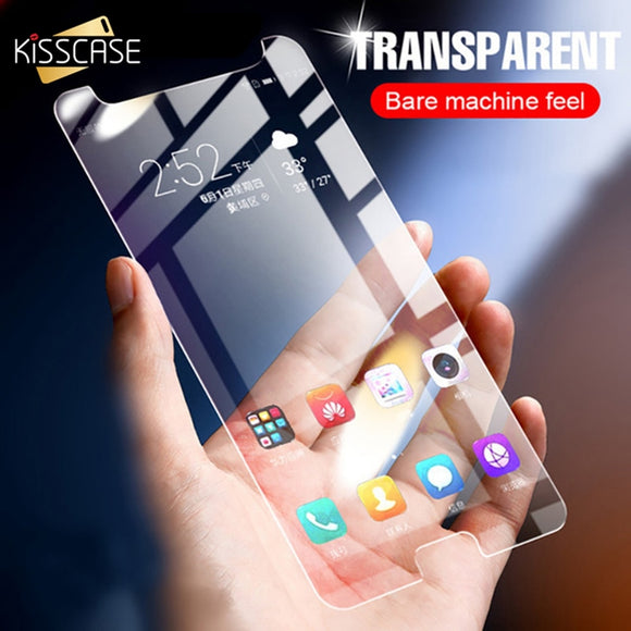 KISSCASE Transparent Glass For Samsung Galaxy A5 A7 A3 2017 Tempered Glass For Samsung Galaxy A8 A6 Plus 2018 Screen Protector - 88digital