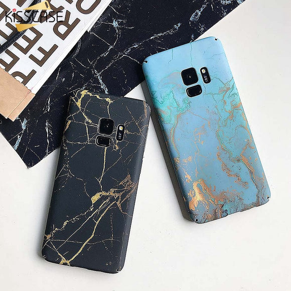 KISSSCASE Marble Phone Case For Samsung Galaxy S10 S8 S9 Plus Note 8 9 S7 Edge Hard Marble Case For Samsung S8 S9 S7 Cover coque - 88digital