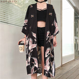 Kimono cardigan Womens tops and blouses Japanese streetwear women tops summer 2019 long shirt female ladies blouse women clothes - 88digital