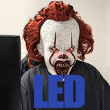 LED Horror Pennywise Joker Mask Cosplay Stephen King It Chapter Two Clown Latex Masks Helmet Halloween Party Props Deluxe New - 88digital