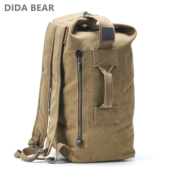 Large Capacity Rucksack Man Travel Bag Mountaineering Backpack Male Luggage Canvas Bucket Shoulder Bags for Boys Men Backpacks - 88digital