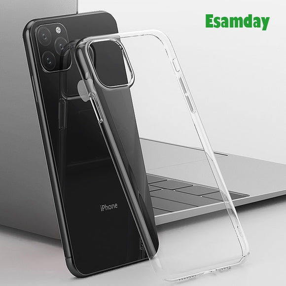 Luxury Clear Soft TPU Case For iPhone 11 Pro Max Transparent Phone Case - 88digital
