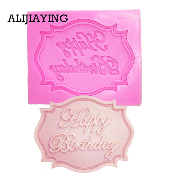 Happy Birthday Letter form silicone mold chocolate fondant cake decoration Tools cupcake mould - 88digital