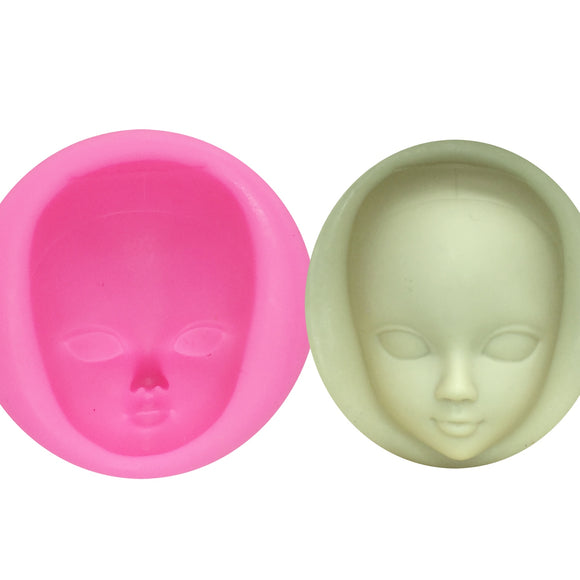 Girl Face Silicone Mold Fondant Molds Cake Decorating Tools - 88digital
