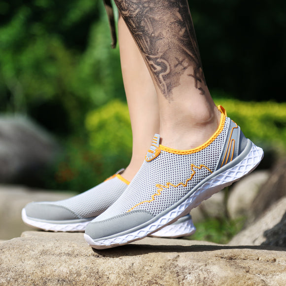 Summer Outdoor Shoes Men Women Light Mesh Running Shoes Athletic Sport Shoes Creek Beach Quick Dry Breathable 36-46 - 88digital