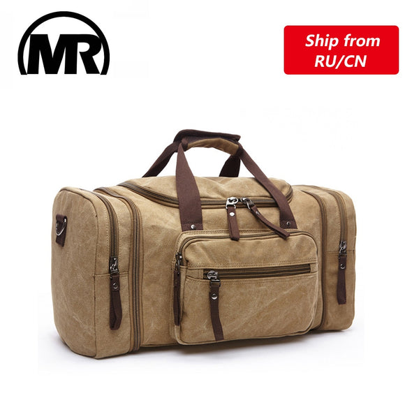 Soft Canvas Men Travel Bags Carry On Luggage Bags Men Duffel Bag Travel Tote Weekend Bag High Capacity - 88digital