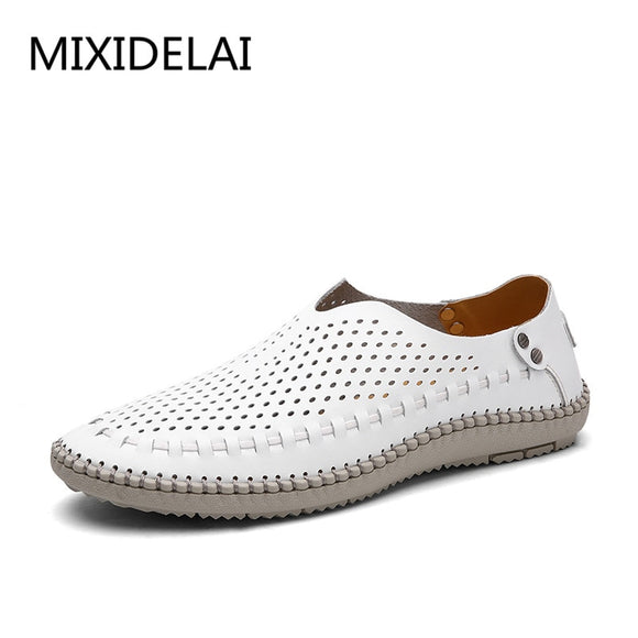 Summer Causal Shoes Men Loafers Genuine Leather Moccasins Men Driving Shoes High Quality Flats For Man size 38-46 - 88digital