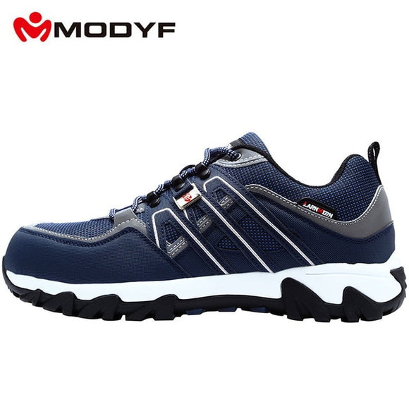 Men's Steel Toe Work Safety Shoes Lightweight Breathable Anti-smashing Anti-puncture Non-slip Reflective Casual Sneaker - 88digital
