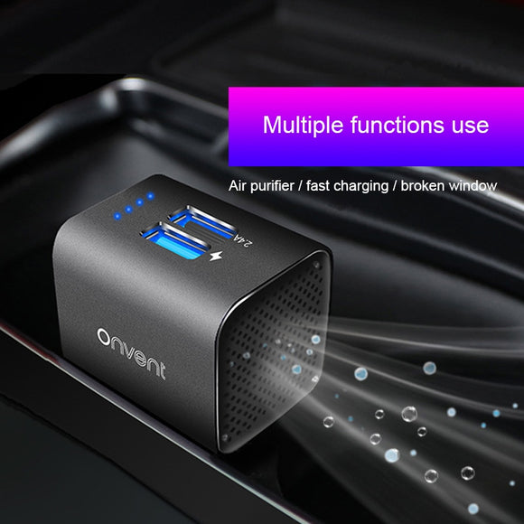 Car air purifier vehicle air ionizer negative ion ozone ozonizer odor eliminator usb for car - 88digital