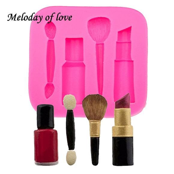 Makeup tools lipstick nail polish chocolate silicone mold - 88digital