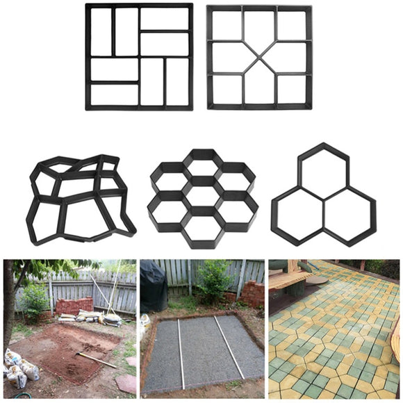 Manually Paving Cement Brick Molds DIY Plastic Path Maker Mold Garden Stone Road Concrete Molds For Garden Home - 88digital