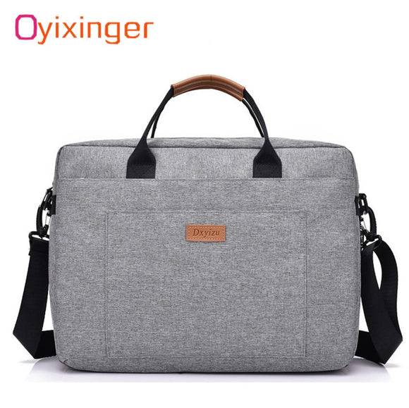 Men Canvas Business Briefcase Office Travel Messenger Large Tote Women's Computer Work Bag Business Trip File Package Laptop Bag - 88digital