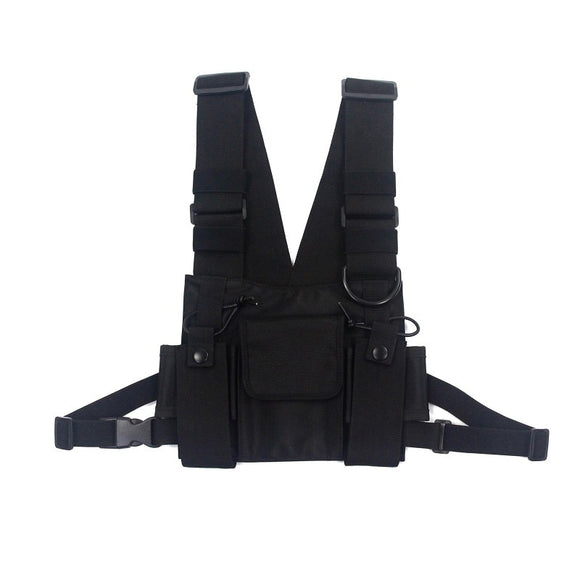 Men Tactical Shoulder Bags Chest Rig Bag Hip Hop Streetwear Men Functional Waist Packs Adjustable Pockets Waistcoat Kanye West - 88digital