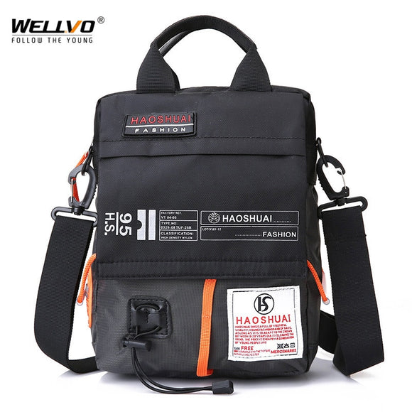 Men's Bag Messenger Bag Male Waterproof Nylon Camouflage Satchel Over the Shoulder Crossbody Bags Handbag Mini Briefcase XA99WC - 88digital