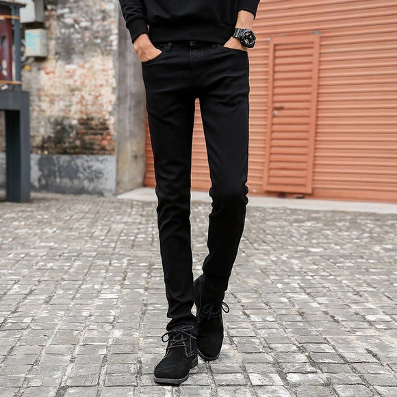 Mens Skinny Jeans Classic Male Fashion Designer Elastic Straight Black Jeans Pants Slim Fit Stretch Denim Jeans - 88digital