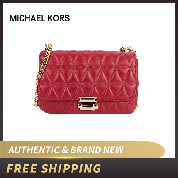 Original Authentic Michael Kors MK Sloan Large Quilted-leather Shoulder Bag 30S7GSLL3L/30H8GSLL3T ship by USPS USA - 88digital
