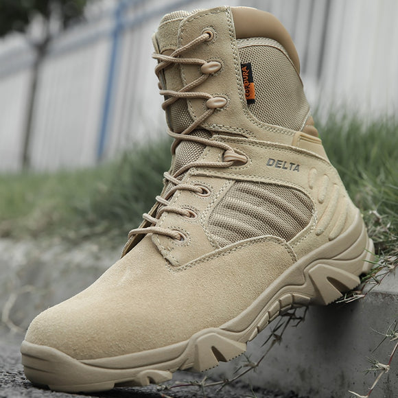 Military Tactical Mens Boots Special Force Leather Waterproof Desert Combat Ankle Boot Army Work Shoes Plus Size 39-47 - 88digital