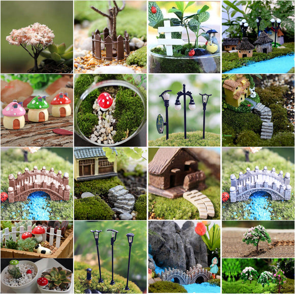 Mini Craft Figurine Plant Pot Garden Ornament Miniature Fairy Garden Decor - 88digital