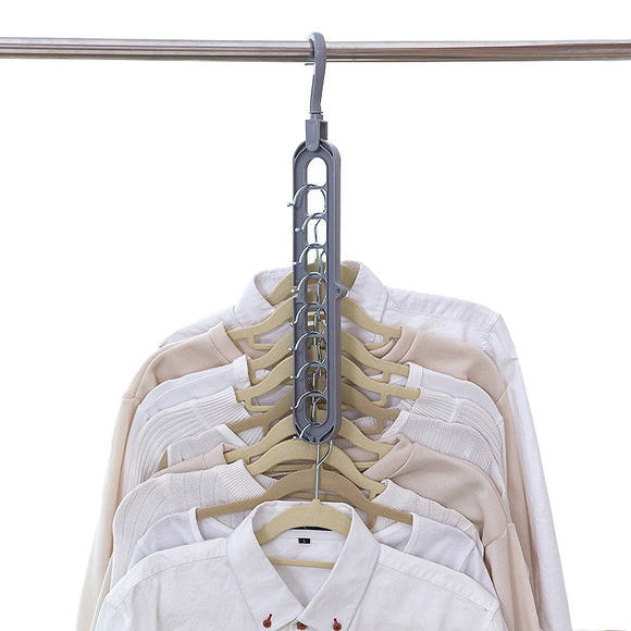 Multi-port Support Circle Clothes Hanger Clothes Drying Rack Multifunction - 88digital