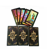 1 set 78 Cards Tarot Deck Set Future Telling English Version Card Board Games Accessories таро for Adults - 88digital