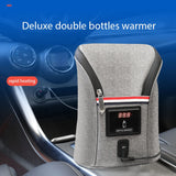 New Design Portable Polyester Deluxe Double Baby Car Bottle Warmer Baby Feeding Milk Bottles Warmer