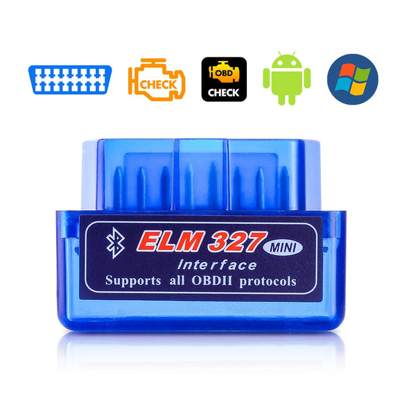 OBD V2.1 V1.5 mini ELM327 OBD2 Bluetooth Auto Scanner OBDII 2 Car ELM 327 Tester Diagnostic Tool for Android Windows Symbian - 88digital