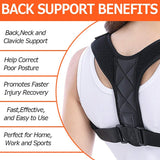 New Posture Corrector Spine Back Shoulder Support Corrector Band Adjustable Brace Correction Humpback Back Pain Relief - 88digital