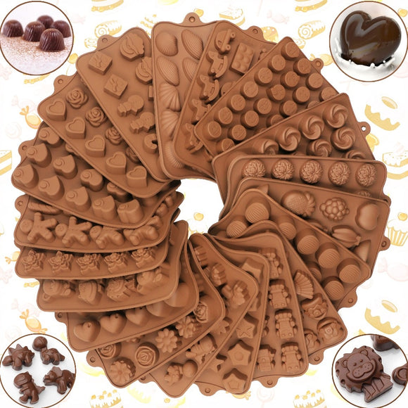 New Silicone Chocolate Mold 29 Shapes Chocolate baking Tools Non-stick Silicone cake mold Jelly and Candy Mold 3D mold DIY best - 88digital