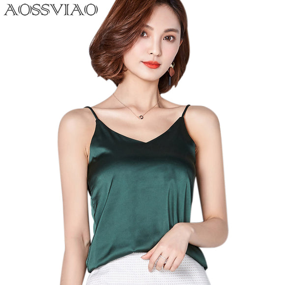 New Summer Autumn style Imitation Silk Women Blouse Shirt Sexy White Tops Women Blouses Party Girls Blusas Shirts 2019 Fashion - 88digital