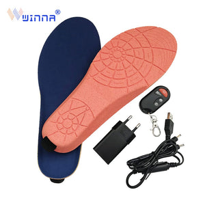 New Wireless Control Electric Heating Thermal Insoles Winter Warm Velvet 1800mAh Increase Heated Insoles for Men Women Shoe Pads - 88digital