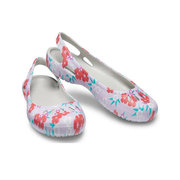 Crocs casual shoes 2019 new printing women flat shoes 205944