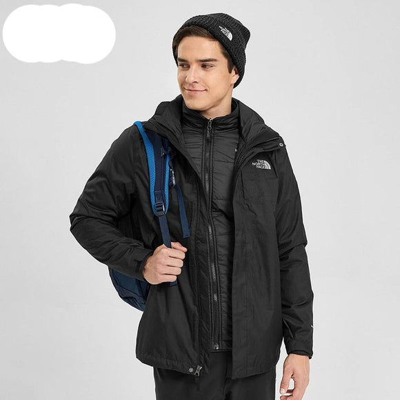Classic The North Face Jacket Cotton Three-in-One Male Outdoor Waterproof 3RKA - 88digital