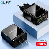 OLAF Quick Charge 3.0 Fast Charging For iPhone X USB Charger QC 3.0 4.0 EU US Plug Phone/Fast Charger For Samsung Xiaomi Adapter - 88digital