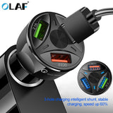 OLAF USB Car Charger Quick Charge 4.0 3.0 for iPhone Samsung Xiaomi Fast Charger QC 3.0 QC 4.0 Mobile Phone Car-Chargers - 88digital