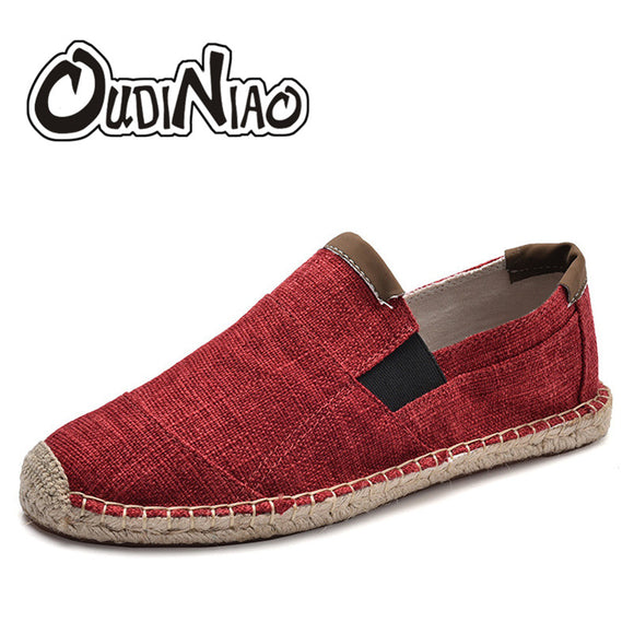 Mens Shoes Casual Male Breathable Canvas Shoes Men Chinese Fashion Soft Slip On Espadrilles For Men Loafers - 88digital
