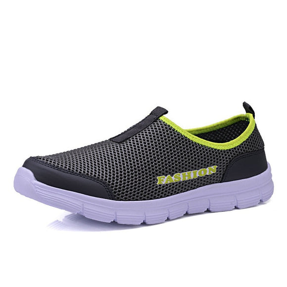 Breathable Men Running Shoes Men's Jogging Mesh Summer Mesh Sneaker Casual Slip-on Sandals Shoes - 88digital