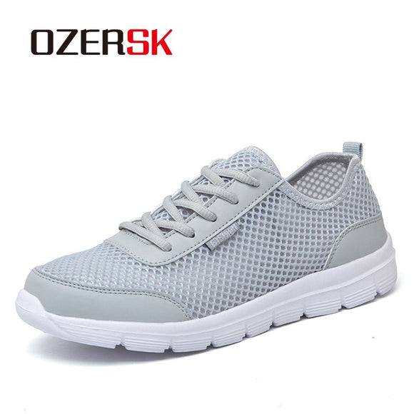 Summer Casual Shoes For Men  Fashion Breathable Mesh Lace up Men Flats Sneakers Jogging Shoes Plus Size 39-48 - 88digital