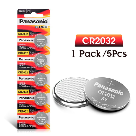 PANASONIC 5Pcs original brand new battery cr2032 3v button cell coin batteries for remote watch computer electronic cr 2032 - 88digital
