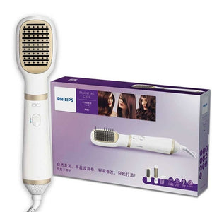 Original PHILIPS HP8663/13 Essential Care Styling Comb with Roll Straightener Negative Ion Care Straight Curly Hair Styling - 88digital
