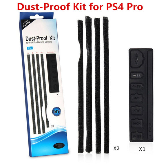 PS4 Pro Dust Proof Prevent Cover Case Stopper Pack Dust Proof Kit For SONY PlayStation 4 Pro PS4 PRO Gaming Console Accessories - 88digital