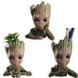PVC Flowerpot Groot Flowerpot Planter Model Toy Pen Pot Holder Table Decoration Birthday Kids Gifts - 88digital