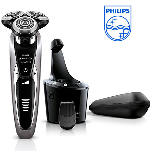 Original Philips Norelco S9311 Shaver 9300 Wet&dry Electric Shaver with SmartClean System Without Cartridge Travel Lock Fully Washable - 88digital