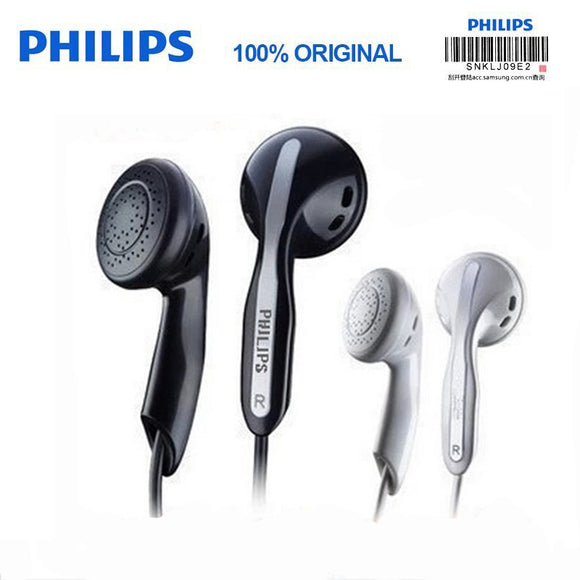 Original Philips SHE3800 Stereo Bass Earphones Mp3  earphones for a mobile phone Xiao Mi and For HUAWEI  Iphone X No Micphone - 88digital