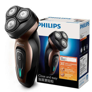 Original Philips electric shaver YQ6188/16 with efficient battery Life Rechargeable Independent Triple Blade Head Face Beard Razor For Me - 88digital