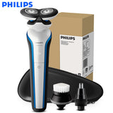 Original Philips electric shaver with wet and dry skin care S566/02 rechargeable razor one hour fast charge available 45 minutes white - 88digital