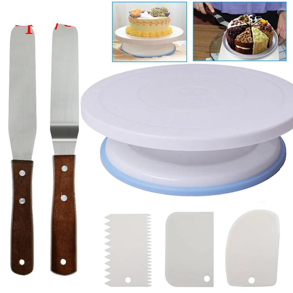 Plastic Cake Turntable Rotating Cake Plastic Dough Knife Decorating 10 Inch Cream Cakes Stand Cake Rotary Table Hot Sal - 88digital