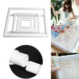 Plastic Embroidery Frame Hoop Square Shape DIY Cross Stitch Machine Needlework Craft Sewing Hoop Embroidery Tools 5 Size - 88digital